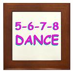 5-6-7-8 Dance Framed Tile