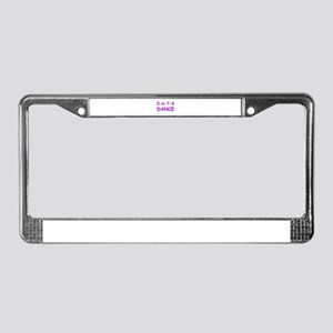 5-6-7-8 Dance License Plate Frame