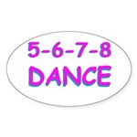 5-6-7-8 Dance Oval Sticker
