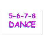 5-6-7-8 Dance Rectangle Sticker