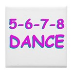 5-6-7-8 Dance Tile Coaster