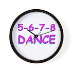 5-6-7-8 Dance Wall Clock