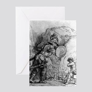 David and Goliath - Rembrandt - 1655 Greeting Card