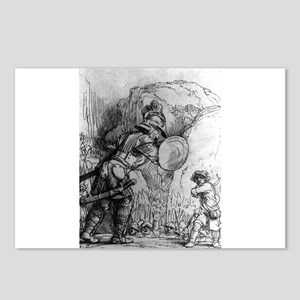 David and Goliath - Rembrandt - 1655 Postcards (Pa