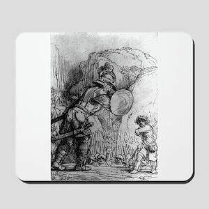 David and Goliath - Rembrandt - 1655 Mousepad