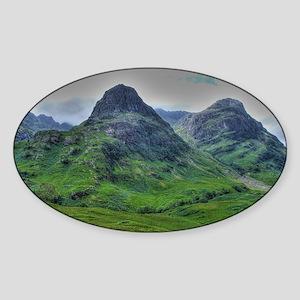 Glencoe 283  ,  HDR , Scotland Sticker (Oval)