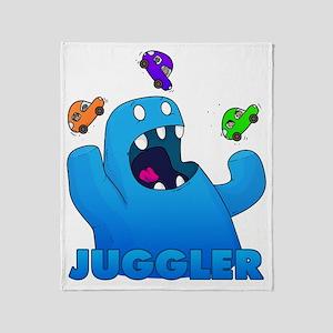 Monster juggler Throw Blanket
