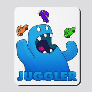 Monster juggler Mousepad