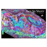 Taos 3d Ski Map Large Poster
