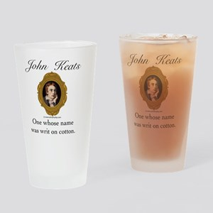 John Keats Drinking Glass