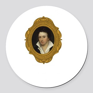 Percy Shelley White Round Car Magnet