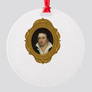 Percy Shelley White Round Ornament