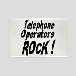 Telephone Operators Rock ! Rectangle Magnet