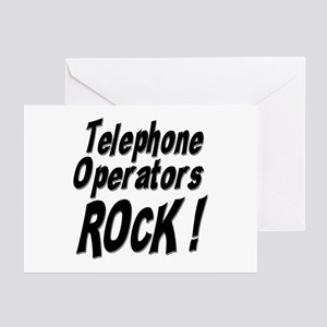 Telephone Operators Rock ! Greeting Cards (Package