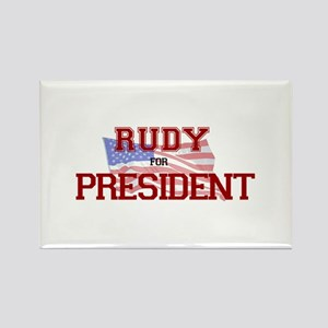 Rudy for President Rectangle Magnet