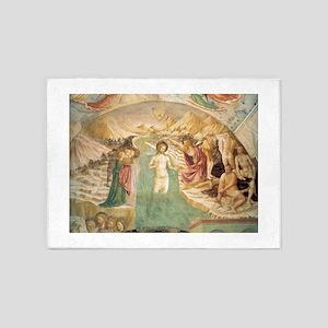 Baptistry - Masolino da Panicale 5'x7'Area Rug
