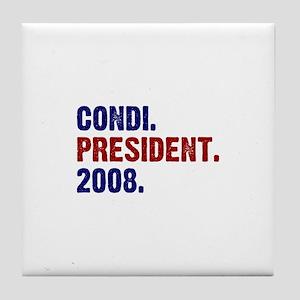 Condi. President. 2008. Tile Coaster