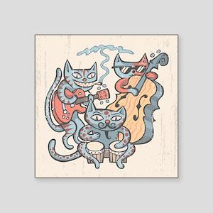 "Hep Cat Band Square Sticker 3"" x 3"""