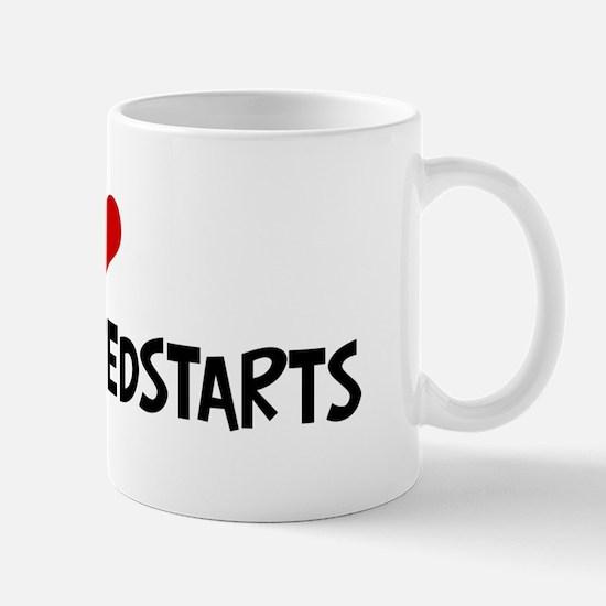 I Love American Redstarts Mug
