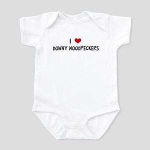 I Love Downy Woodpeckers Infant Bodysuit