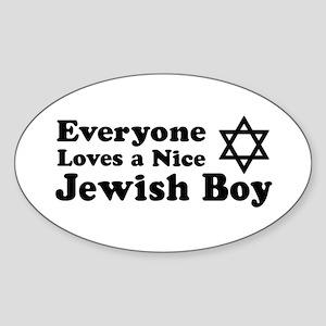 Everyone Loves a Nice Jewish Oval Sticker