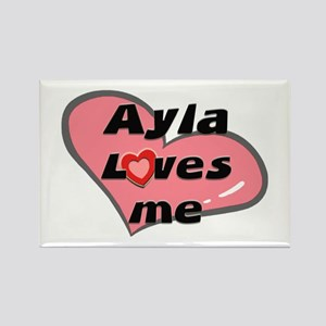 ayla loves me Rectangle Magnet