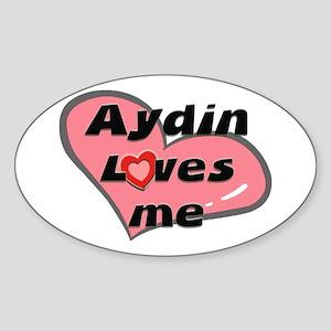 aydin loves me Oval Sticker