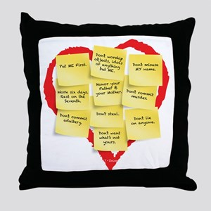 Ten Commandments Throw Pillow