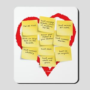Ten Commandments Mousepad