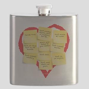 Ten Commandments Flask