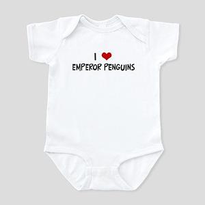 I Love Emperor Penguins Infant Bodysuit