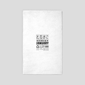Born In January Area Rug