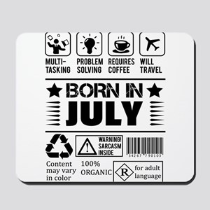 Born In July Mousepad