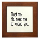 Massage Therapist 3 Framed Tile