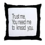 Massage Therapist 3 Throw Pillow