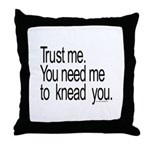 Massage Therapist 3 Throw Pillow