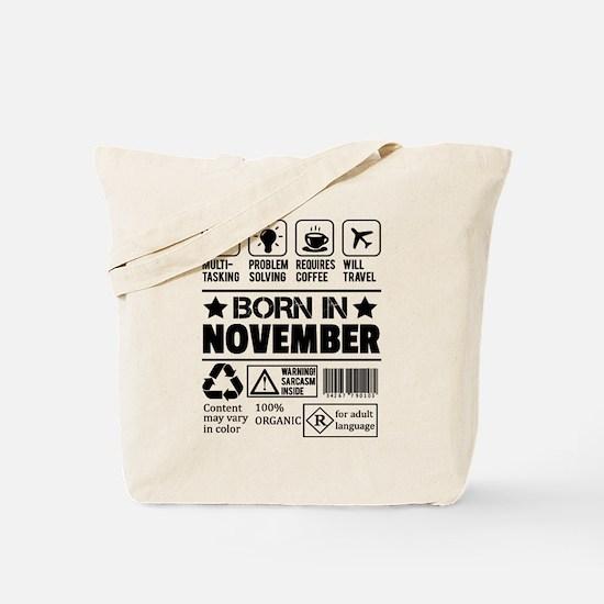 Born In November Tote Bag