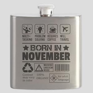 Born In November Flask