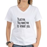 Massage Therapist 3 Women's V-Neck T-Shirt