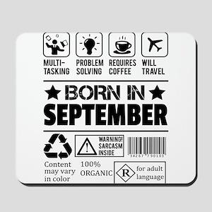 Born In September Mousepad