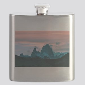 Mount Fitz Roy, Patagonia, Argentina at dusk Flask