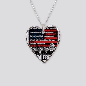 I AM FREE Necklace Heart Charm