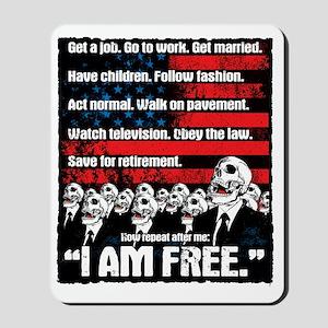 I AM FREE Mousepad