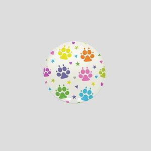 Dog Paw Prints Mini Button