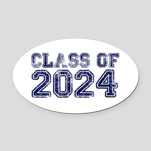 Class of 2024 Oval Car Magnet