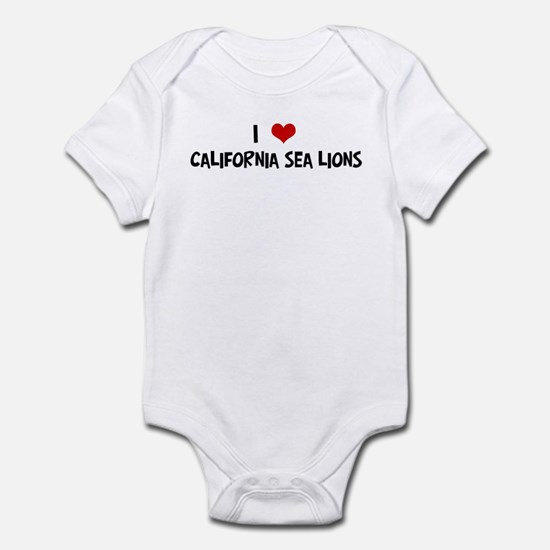 I Love California Sea Lions Infant Bodysuit