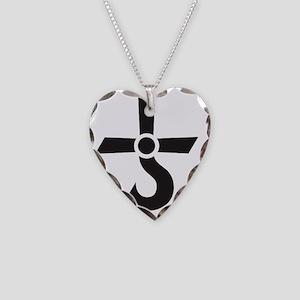 Cross of Kronos (Mars Cross) Necklace Heart Charm