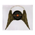 MUSIC SAVES LIVES - WINGS 2 Throw Blanket