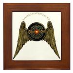 Music Saves Lives - Wings 2 Framed Tile