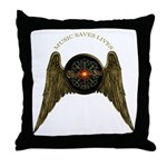 MUSIC SAVES LIVES - WINGS 2 Throw Pillow